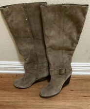 BCBGeneration Tan Suede Leather Wedge Heel Boots. Size US7.5. NWOB. $25