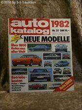 Auto Katalog Autokatalog AMS 1982 Nr. 25