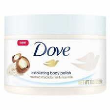 Dove Exfoliating Body Polish Crushed Macadamia and Rice Milk pack of 1