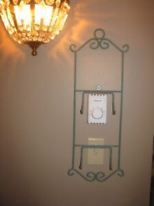 Plate Rack, Wall Mount, Display Rack, Plate Holder, 2 plate, Wrought Iron, Green
