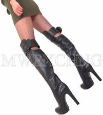 Loriblu Thigh High Overknee Stiletto Boots High Heels EU 36 Italian Womens Shoes
