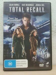Total Recall DVD Colin Farrell, Kate Beckinsale, Jessica Biel 2 4 5 PAL