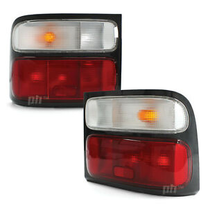 Tail Lights PAIR Red & Clear fits Toyota Coaster BB50 Bus 2002 - 2007