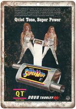 """Doug Thorley Headers Super Muff QT - 10"""" x 7"""" Retro Look Metal Sign"""
