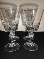 FINE ELEGANT CRYSTAL 4 OZ WINE GLASS THICK CUT GLASS STEMS NICE! FREE SHIPPING