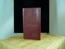Piaget Maroon Leather Wallet Unisex credit card holder