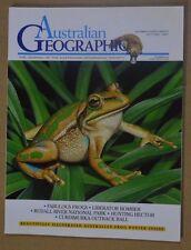 Australian Geographic Iss #48 Oct-Dec 1997 + illustrated Australian Frog Poster