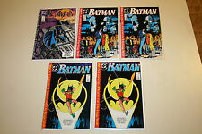 Batman lot#440, 441, 441, 442, 442 1st Tim Drake as Robin! Nice Books!