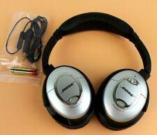 0bb67f834a8 Bose QuietComfort 15 Acoustic Noise Cancelling Headphones Silver QC15 #silva