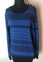 Tommy Hilfiger women's long sleeve sweater navy Blue & Blue 100% cotton Medium
