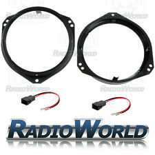 "Vauxhall Corsa Astra Tigra Zafira Vivaro Speaker Adaptors Rings 165mm 6.5"""
