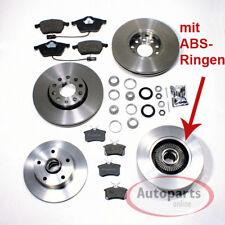 Audi A4 B5 Bremsen Bremsscheiben Abs Ringe Radlager Set Beläge für vorne hinten*