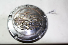 Harley primary derby inspection cover flames flamed Dyna FXD FXDL FXDX EP18858