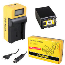 Batteria Patona + caricabatteria Synchron LCD USB per Canon Legria HF G25,HF M30
