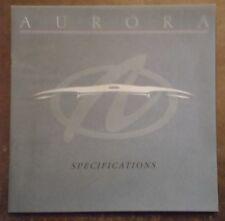 Oldsmobile Aurora Orig 1994 USA MKT ventas/especificaciones Folleto Catálogo