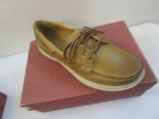 ACORN  MEN'S LEATHER CASUAL CAMP MOC SHOES NEW IN BOX  SZ 9M