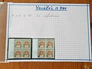 timbres suisse varietes n.740