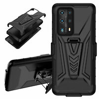 For Samsung Note 20/S20 FE Rugged Holster Armor Case Cover Kickstand+Belt Clip