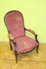 Stuhl Armlehnstuhl Sessel Biedermeier Nussbaum Louis Philippe #6039