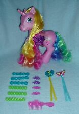 "Rare My Little Pony ""Rarity"" 9 1/2 inch G3 Pony + ALL STYLING ACCESSORIES - EUC!"