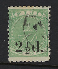 FIJI: 1891 2 1/2d on 2d green  SG 71 used