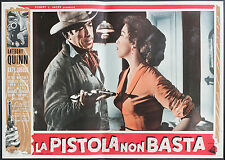fotobusta cinema LA PISTOLA NON BASTA a. quinn, k. jurado; HORNER
