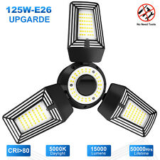 125w Deformable Led Garage Light Basement Warehouse Workshop Factory Lamp Bright