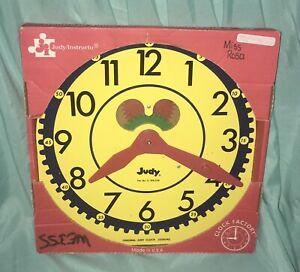 *Large Original Vintage*JUDY CLOCK*Factory/Instructo Teaching*J209040*IN BOX*