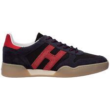 Hogan sneakers men h357 HXM3570AC40N3I50BV Blue lagoon logo detail shoes