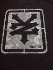 "Zoo York Skater Digi Military Camo Logo Black 100% Cotton T-Shirt M 38"" Chest"