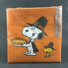 Snoopy Thanksgiving Napkins Cocktail Luncheon Paper Woodstock Peanuts