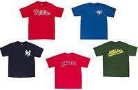 MLB Baseball Men's Majestic Wordmark T-Shirt - Pick Team