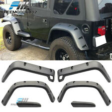 "For 97-06 Jeep Wrangler TJ 7"" Wide POCKET Style Protector Fender Flares 6PC Set"