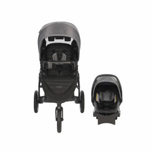 Evenflo Folio3 Stroll and Jog Travel System with LiteMax Car Seat (Open Box)