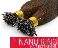 "16"" 18"" 20"" 22"" 24"" Nano Ring Tip Hair Extensions 100% Human hair"