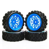 1/10 RC Rally Racing Off Road Car Rubber Tire Tyre&Wheel Rim 12mm Hex PP0487+BBB