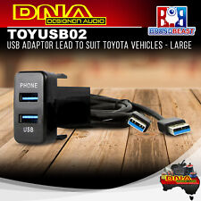 DNA TOYUSB02 Dual USB 3.0 Adaptor Lead to Suit Toyota Vehicles - Large