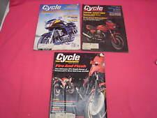 3 CYCLE MAGAZINES 1983 YAMAHA XVZ1200 KAWASAKI ZX750 YAMAHA 900 SECA  (Y156)