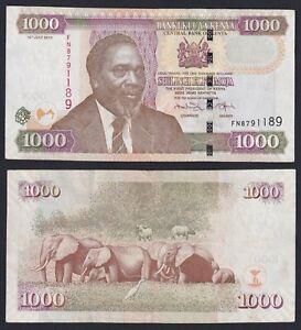 Kenya 1000 shillings 2010 BB+/VF+  B-10