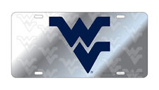 WVU WEST VIRGINIA Mountaineers Deluxe Symbol Back Mirrored License Plate/Car Tag