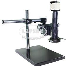 2MP 180X Industry Microscope Camera Set VGA USB TV +C-mount Lens+Dual-arm Stand