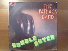 DISCO 45 GIRI THE FATBACK BAND DOUBLE DUTCH SPANK THE BABY POLYDOR 1977 VG+/VG-