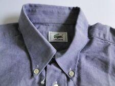 Lacoste Chemise Herren Hemd Langarm Blau Strukturiert KW41