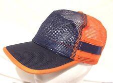 Men's Or Women's Orange And Blue Black Mesh  Snapback Trucker Hat