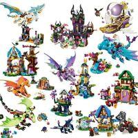 Girl Friends Elves Dragon Sanctuary Building Bricks Toys Educational Toys