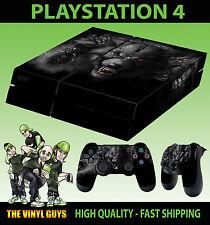 PS4 Skin Dark Wolf Horror Werewolf Skulls Sticker New + 2 X Pad decal Vinyl LAY