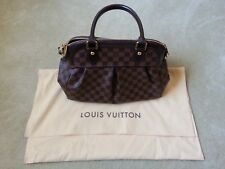 Authentic Louis Vuitton Hand Bag Trevi PM Ebene Browns Damier