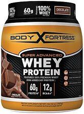 Body Fortress Super Advanced Whey Protein Powder Chocolate 2 Pound NEW