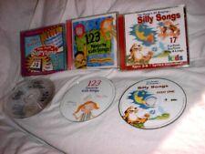 3 CD Set Happy Birthday Sing Along Silly Songs & 123 Favorite Kid Songs 69 Songs