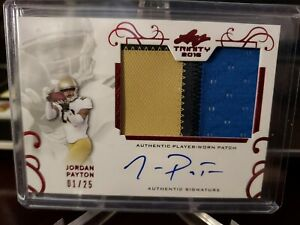 JORDAN PAYTON 2016 Leaf Trinity RED 3 Color Patch RC AUTO #01/25 Browns RC